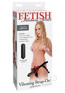 Fetish Fantasy Vibrating Strap On Set 6 Inch Red