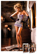 Lace Mesh Tube Dress Zebra/purple (disc)