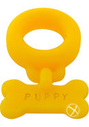 Puppy Silicone Cockring Yellow 2.25 Inch Diameter