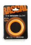 Rascal The Brawn Glow 3x Stretch Silicone Cock Ring Glow In...