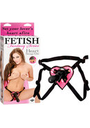 Fetish Fantasy Heart Strap On 6.5 Inch Black