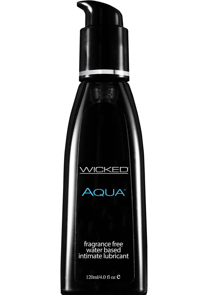 Wicked Aqua Water Based Lubricant Unscented 4 Ounce