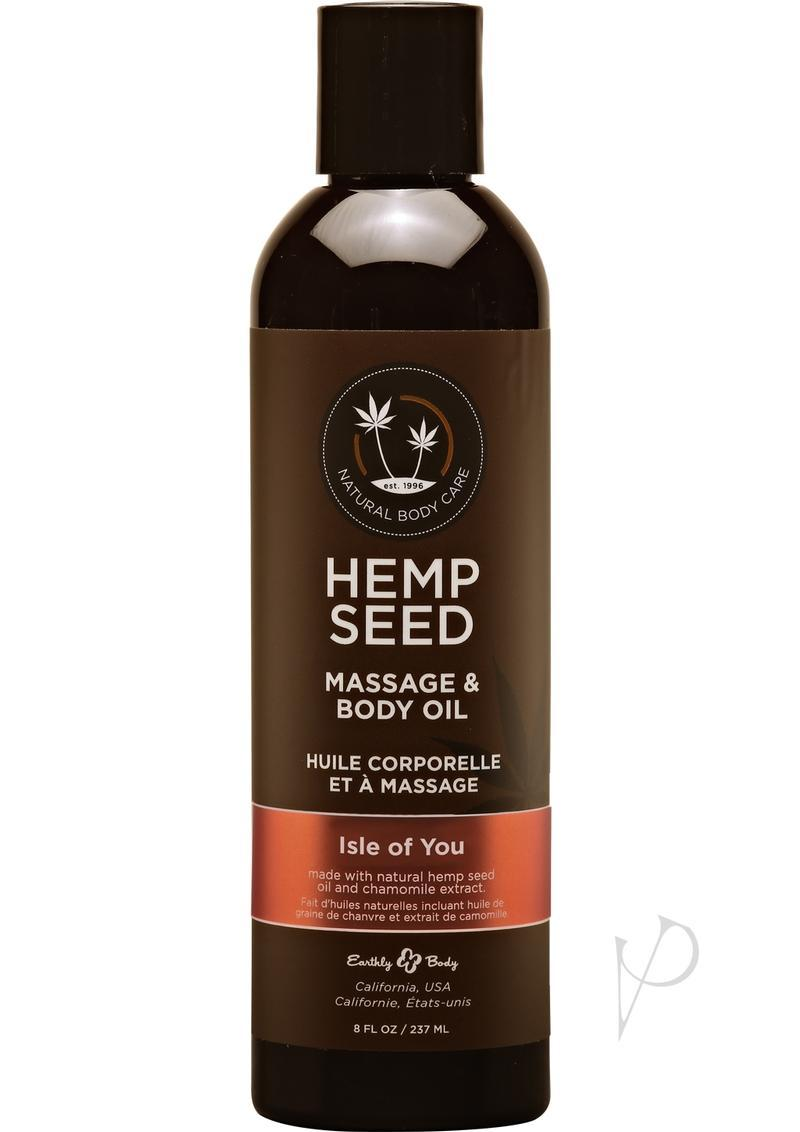 Hemp Seed Massage Oil 100% Natural Blend Isle For You 8 Ounce