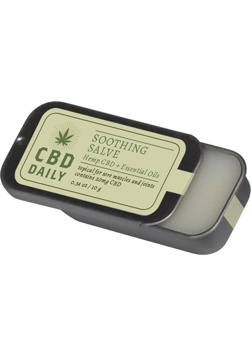Cbd Daily Soothing Salve Hemp Cbd And Essential Oils 100% Vegan 0.34 Ounce